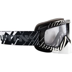FXR Racing Black/White Mission Goggles - 14440