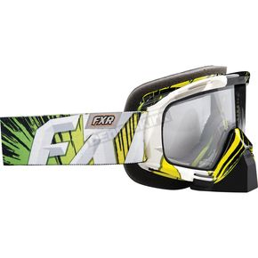 FXR Racing Green/Black Mission Goggles - 14440