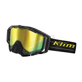 Klim Radius Pro Blackout Goggles w/Smoke Gold Mirror Double Lens (Non-Current) - 7000-001-000-651