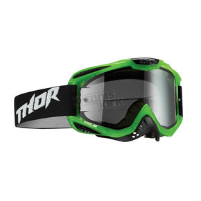 Thor Translucent Green/Black Ally Goggles w/Clear Lens - 2601-1891