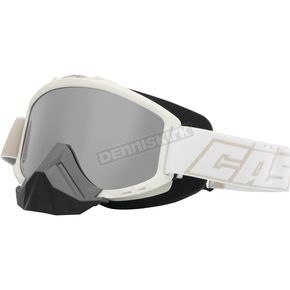 Castle X Matte White Force Snow Goggles w/Mirrored Dual Lens - 64-1503