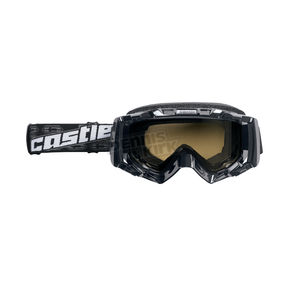 Castle X Matte Black Stage OTG Snow Goggle w/Yellow Dual Lens - 64-1334