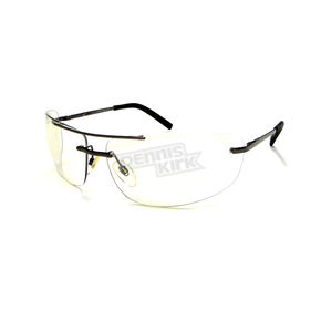 Gunmetal Safety C-167 Sunglasses w/Clear Mirror Lens - C-167GM/CL