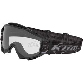 Klim Black/Gray  Blitz Radius Moto Goggles w/Single Clear Lens - 3049-000-000-000