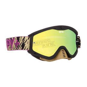 Spy Optic Podium Gold Whip MX Goggles w/Smoke/Gold Mirror Lens - 320791013349