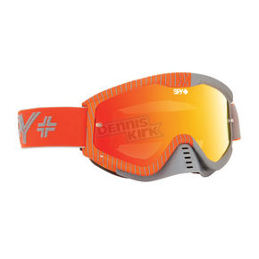 Spy Optic GP Orange Whip MX Goggles w/Smoke/Red Spectra Lens - 320791462842