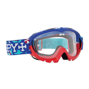 Spy Optic Blue/Red Party Sharks Targa Mini MX Goggles w/Clear Lens - 320390036097