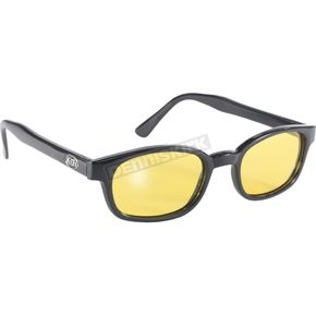 Pacific Coast Sunglasses The Original KDs Sunglasses Black Flames w/Yellow Polarized Lens - 20129