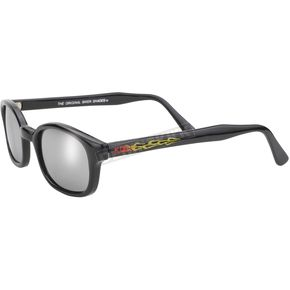 Pacific Coast Sunglasses The Original KDs Sunglasses Black Flames w/Silver Mirror Lens - 30110