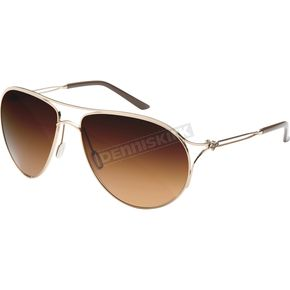 Fox Womens Polished Gold The Stella Sunglasses w/ Bronze Gradient Lens - 10278-905-NS