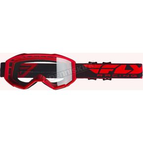 Red Focus Goggles w/Clear Lens - 37-5100