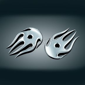 Kuryakyn Chrome Flame Covers for OEM Mirrors - 1753
