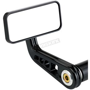 Matte Black Rectangle Bar End Mirror - 09-311-AB