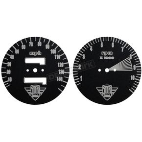 Joker Machine Speedo and Tach Gauge Face Plate Set - 12-135B