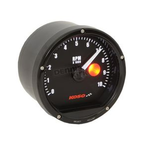 Koso North America Black/Black TNT Tachometer 10,000 RPM w/Shift Light - BA035130