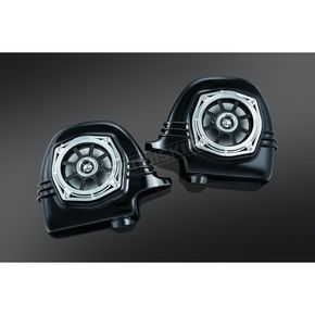 Kuryakyn Gloss Blackk 4-OHM Lower Fairing Speakers - 895
