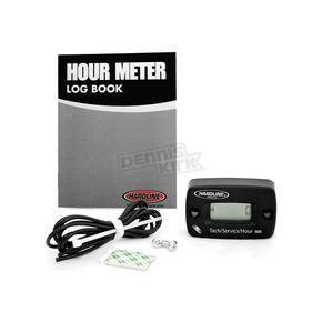Hardline Resettable Hour Meter/Tachometer w/Log Book - HR8067-2