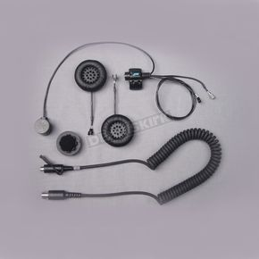 J&M Corporation Full-Face Style  Stereo Helmet Headset w/5-Pin Single-Section Cord - HS-8154B-FF