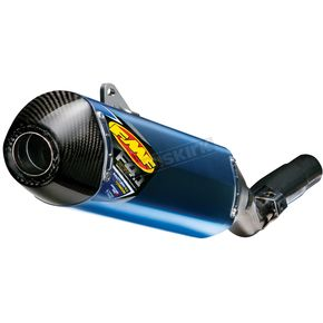 FMF Factory 4.1 RCT Blue Anodized Titanium Slip-On Muffler w/Carbon Fiber End Cap - 043350