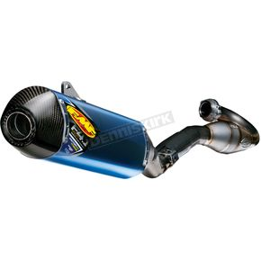 FMF Factory 4.1 RCT Blue Anodized System w/MegaBomb Header w/Carbon Fiber End Cap - 043353