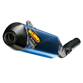 FMF Titanium Blue Anodized Factory 4.1 RCT Anodized Slip-On w/Carbon Fiber End Cap - 045570