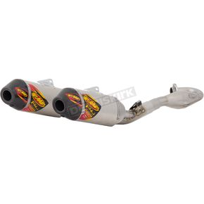FMF Stainless Aluminum Anodized Factory 4.1 RCT Dual Full System w/Carbon End Cap - 041541