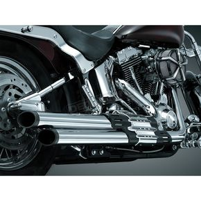 Kuryakyn Crusher Staggered Dual Exhaust System With Black/Chrome Power Cell - 508