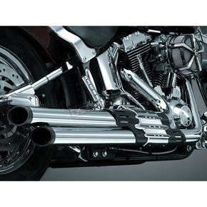 Kuryakyn Chrome Crusher Power Cell Staggered Dual Exhaust System with Black Tips - 514