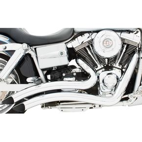 Freedom Performance Chrome Sharp Curve Radius Exhaust System - HD00218