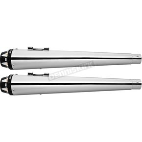 Freedom Performance Chrome American Outlaw Mufflers w/Black Tips - HD00262