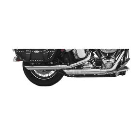 Rush Racing Products 3 in. Slash Down Slip-On Mufflers w/1-3/4 in. Baffle - 20801-175