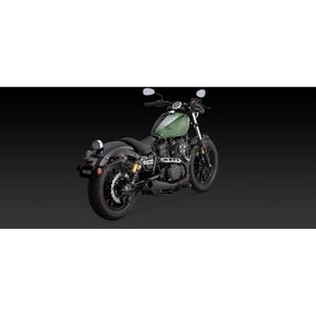 Vance & Hines Matte Black Competition Series Slip-Ons - 48533