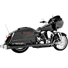 Freedom Performance Black American Outlaw Slip-On Mufflers W/ Chrome Tips - HD00263