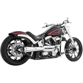 Freedom Performance Chrome American Outlaw High 2-Into-1  Exhaust - HD00296