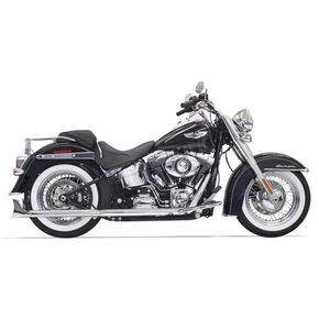Bassani Chrome True Duals w/30 in. Fishtail Mufflers and No Baffles - 1S46E-30