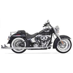 Bassani Chrome True Duals w/36 in. Fishtail Mufflers and No Baffles - 1S46E-36