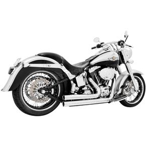 Freedom Performance Chrome Independence Shorty Exhaust System - HD00033