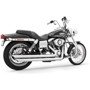 Freedom Performance Chrome Patriot Slash Down Long Exhaust System - HD00058