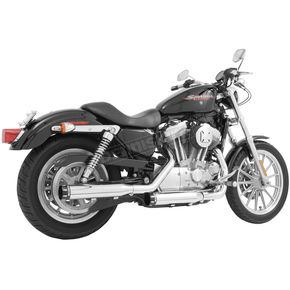 Freedom Performance Chrome Signature Series Slip-On Mufflers with Black Tips - HD00198