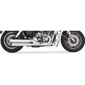 Freedom Performance Chrome Signature Series Slip-On Mufflers with Black Tips - HD00192