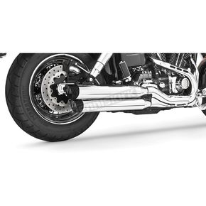 Freedom Performance Chrome Racing Slip-On Mufflers with Black Tips - HD00317