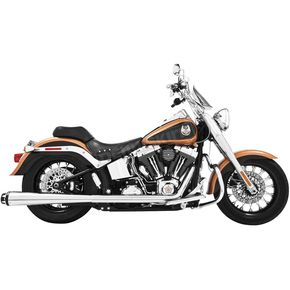 Freedom Performance Chrome American Outlaw Dual Exhaust System with Black Tips - HD00293