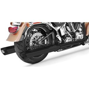 Freedom Performance Black True Duals Signature Exhaust System with Black Tips - HD00221