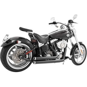 Freedom Performance Black Amendment Side Slash Exhaust System with Chrome Tips - HD00250