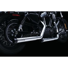 Chrome 2.5 in. Maverick Slip-On Mufflers - 615