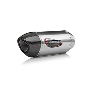 Yoshimura Stainless/Stainless/Carbon Fiber Street Series Alpha Slip-On Muffler - 141812M520
