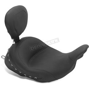 Mustang Seats LowDown™ Solo Seat w/Black Pearl-Centered Studs and Driver Backrest - 79912