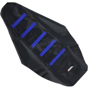 Moose Black/Blue Ribbed Seat Cover - 0821-2109