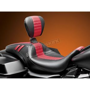 LePera Black Outcast GT Red Seat w/Driver Backrest - LK-987GTRPT
