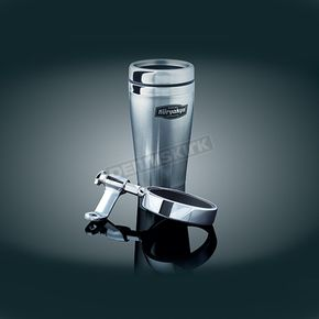 Kuryakyn Mirror Mount Drink Holder w/ Stainless Steel Mug - 1792